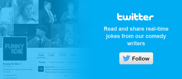 Twitter - Read and share real-time jokes from our comedy writers